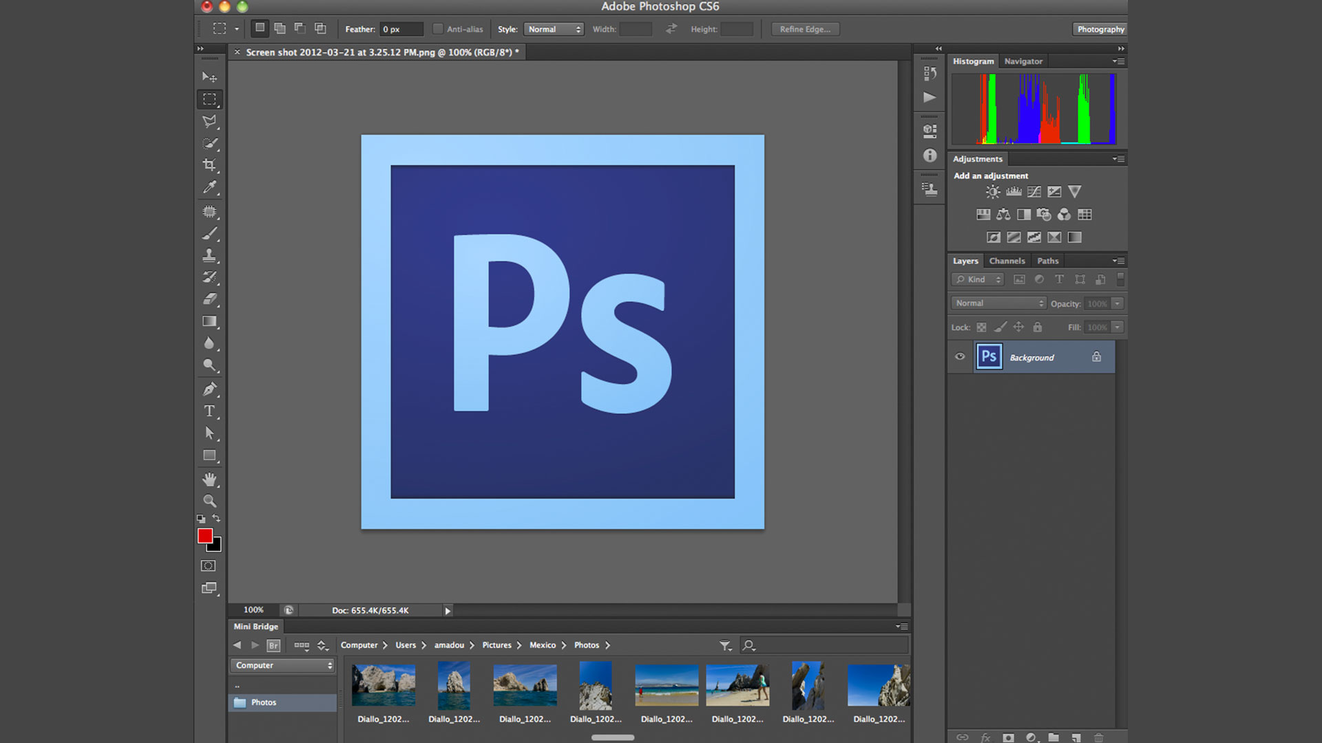 Adobe Photoshop CS6 One on One Fundamentals – 1-2 Opening an image from the Windows desktop