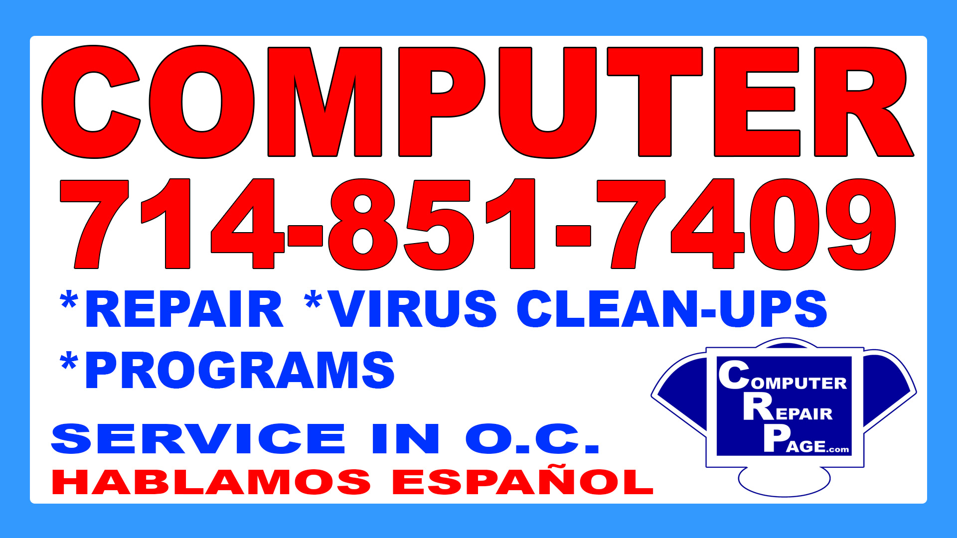 Computer Repair Service in Santa Ana CA, and Orange County